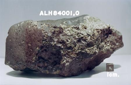 Un nuevo análisis encuentra moléculas orgánicas en ALH 84001, el meteorito proveniente de Marte encontrado en la Antártida