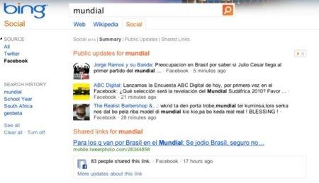 Bing incorpora los resultados de Facebook