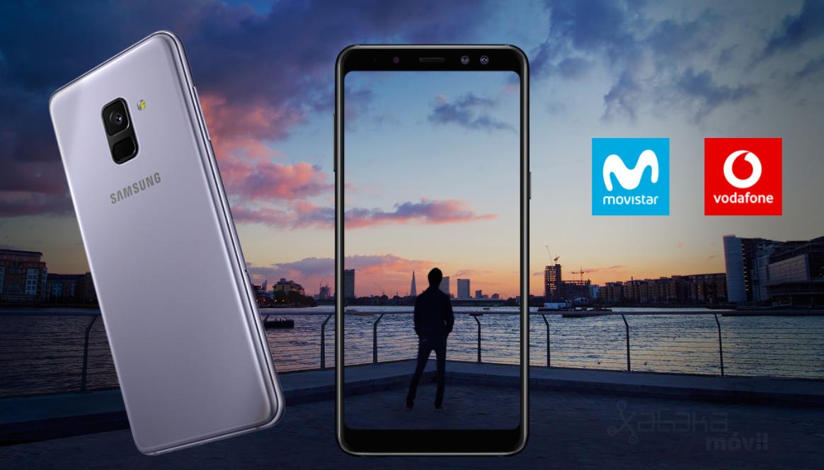 6395f04412e El Samsung Galaxy A8 aterriza en Movistar y Vodafone desde 480 euros con  pago a plazos