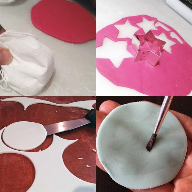 decorar galletas con fondant