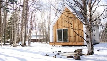 El confort de una cabaña en la nieve