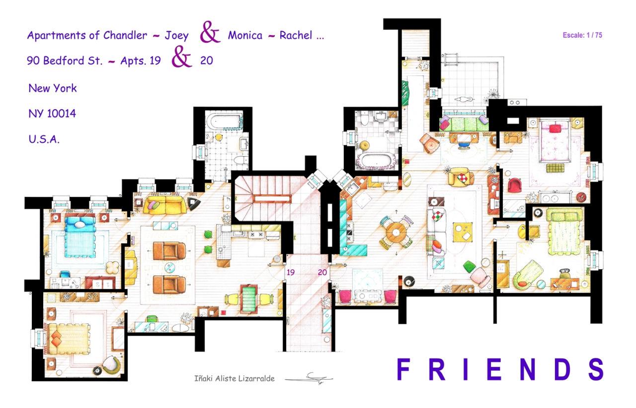 Foto de Planos de apartamentos de series de TV (14/17)