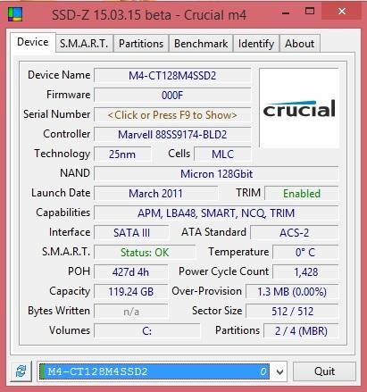 SSD-Z, así como GPU-Z y CPU-Z pero para unidades de almacenamiento