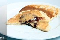Tortitas rellenas con pasta de alubias
