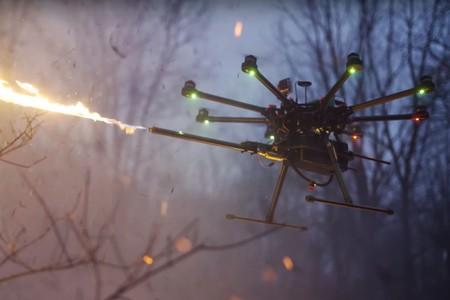 Este nuevo aditamento de 1.500 dólares convierte nuestro drone en un peligroso lanzallamas volador