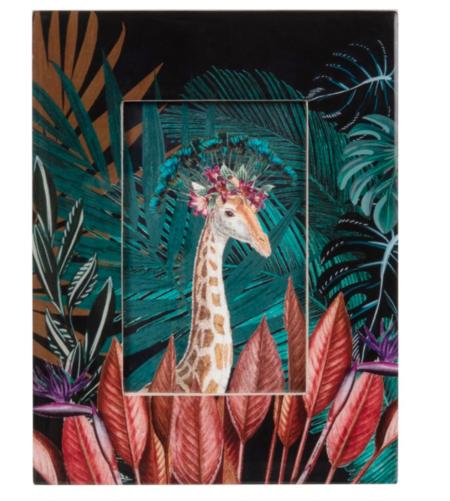 Marco De Fotos Con Estampado De Jirafa Multicolor