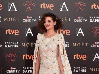 Macarena Gómez, despeinada pero con un vestido divino en los Goya 2016