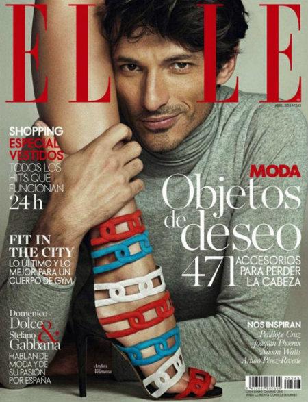 Andrés Velencoso se convierte en el primer hombre en protagonizar una portada de Elle España