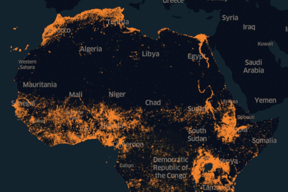 Toda la población de África, identificada al fin correctamente en un solo mapa