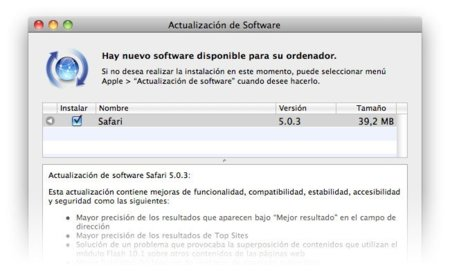 Safari 5.0.3 con mejoras de estabilidad y seguridad