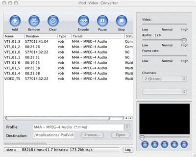 iPod Video Converter: Convierte contenidos de un DVD al iPod