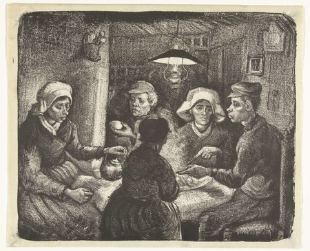 The Potato Eaters Lithography By Vincent Van Gogh