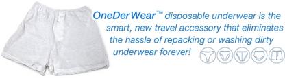 Calzoncillos desechables para viajeros