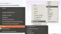 Accede a tus aplicaciones y marcadores de Chrome desde su menú contextual