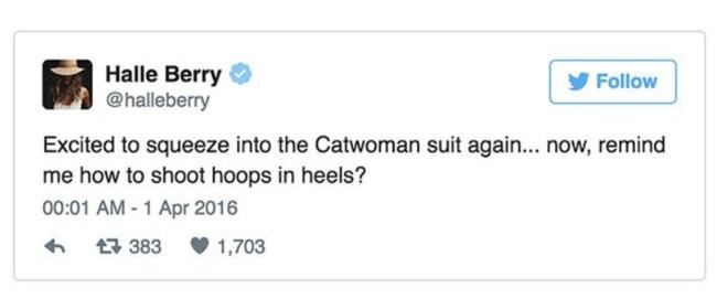 Halle Berry confirmando el proyecto