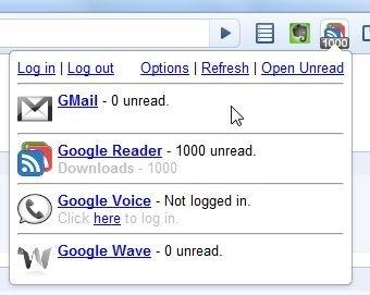 One Number, extensión de Chrome que te informa de elementos nuevos en varios servicios simultáneamente