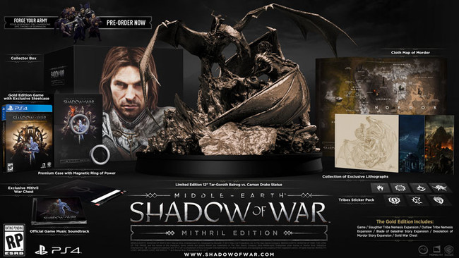 Middle Earth Shadow Of War Mithril Edition