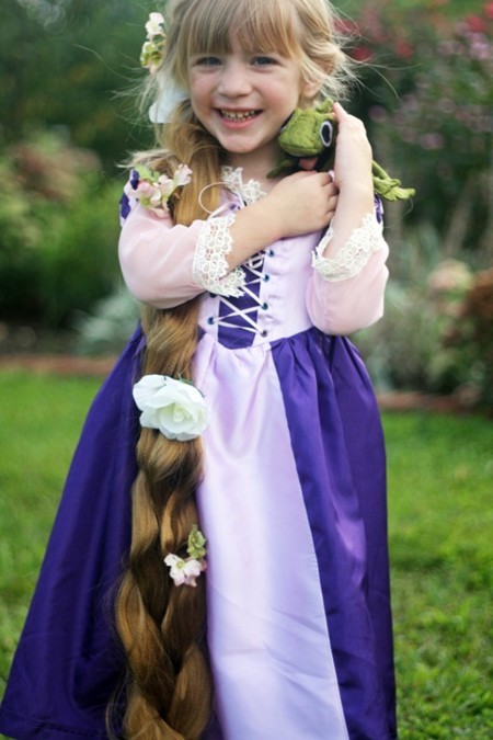 Rapunzel-disfraz