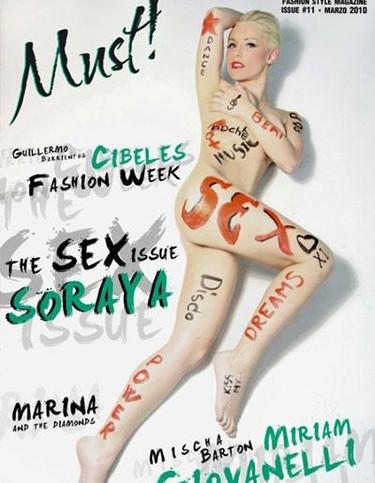 Soraya al desnudo en la revista Must!