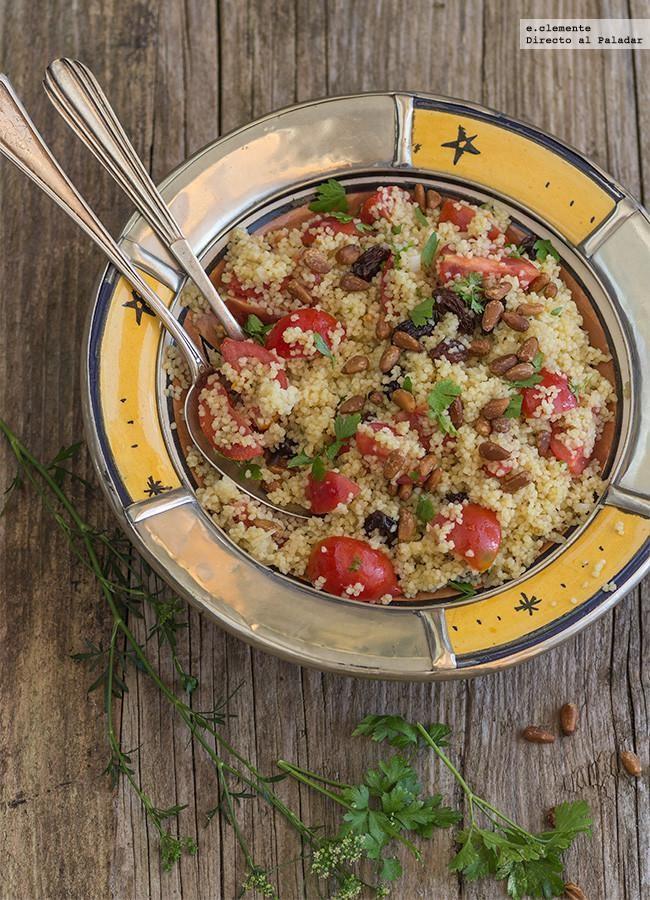 Taboulé con uvas pasas y piñones: receta para una cena moruna lista en 15 minutos