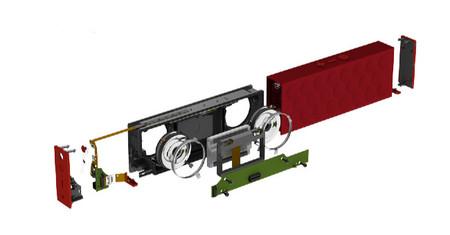 Despiece del MINI JAMBOX, en el que podemos ver las distintas partes del mismo