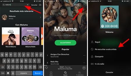 Ejemplo Bloqueo Artista En Spotify Copia