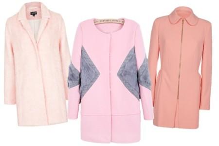distintos abrigos rosas