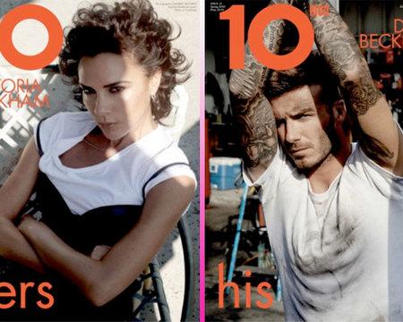 David y Victoria Beckham, pareja de portada en 10 Magazine