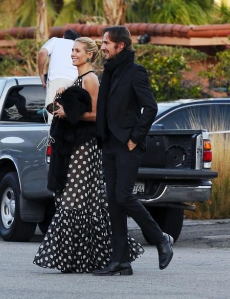 Heidi Klum se va de boda con un vestido de lunares