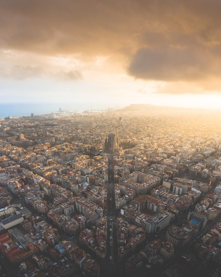 One Of The Most Amazing Sunsets In Barcelona By Alvarovaliente Spain