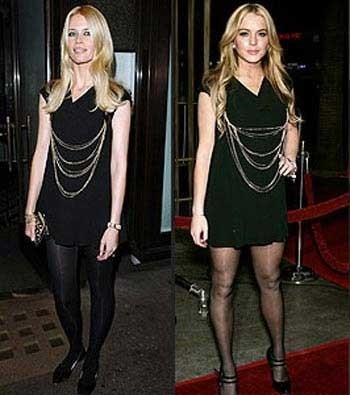 Otro minivestido de Chanel: ¿Claudia o Lindsay?