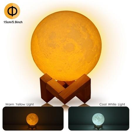 Cupón de descuento de 6 euros en la lámpara de la Luna en 3D de 15 cm de diámetro: ahora cuesta 15,99 euros en Amazon