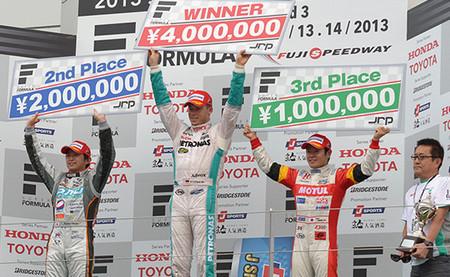 Podio Super Fórmula 2013 Fuji Rd.03
