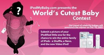 Concurso de bebés de Ipod My Baby