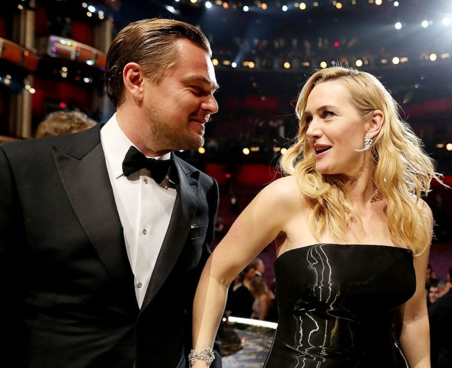 DiCaprio y Kate Winslet