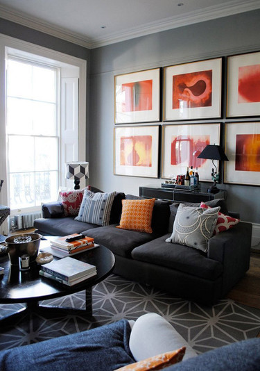Una bonita casa inglesa llena de telas sorprendentes