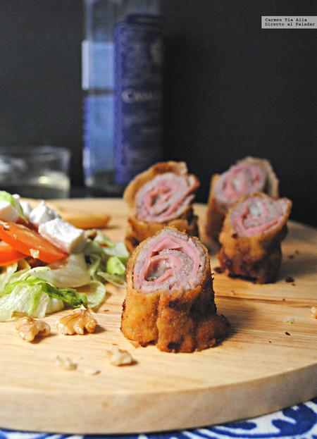 Flamenquines de ternera, jamón cocido y queso Gorgonzola: receta para una comida familiar