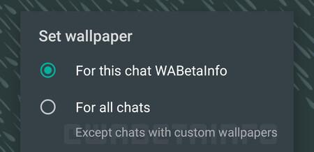 WhatsApp para Android permitirá poner un fondo diferente en cada chat