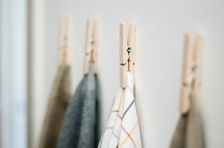 Use Clothes Pins To Hang Kitchen Towels