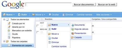 Google Docs ahora con subcarpetas e incrustación de presentaciones en sitios web