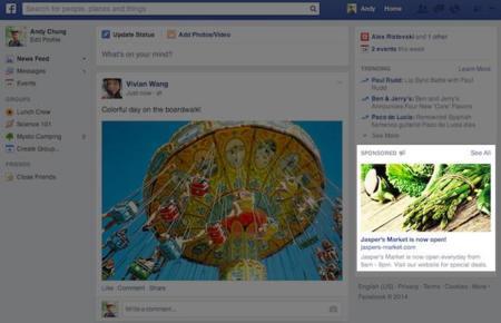 Facebook colocará anuncios más grandes en su web y eliminará los mensajes de su aplicación móvil