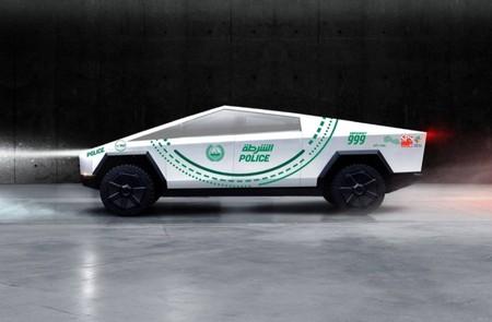 Tesla Cybertruck Policia Dubai
