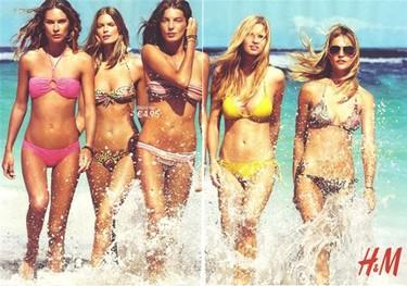 Las supermodelos lucen la colección de baño de H&M