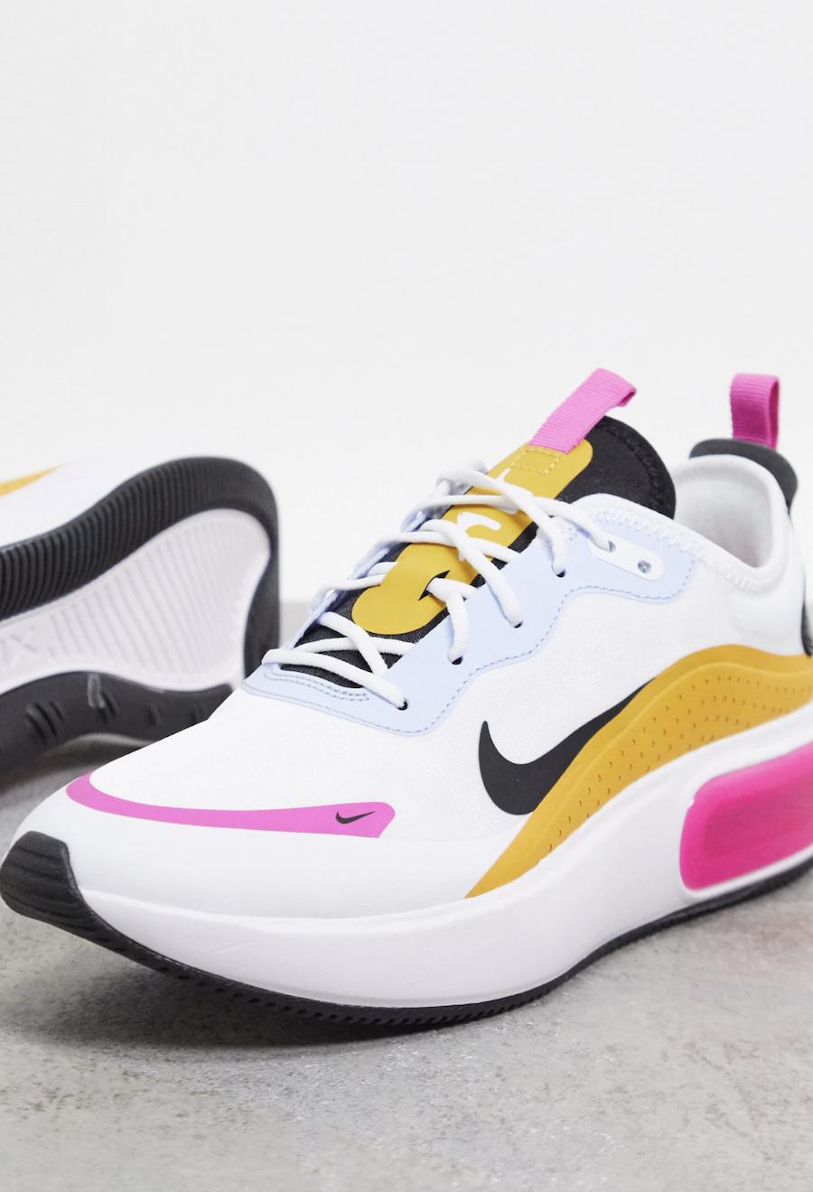 Zapatillas en blanco, rosa, naranja y azul Air Max Dia de Nike