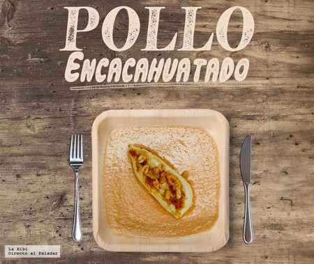 Pollo encacahuatado. Receta mexicana en Infografia