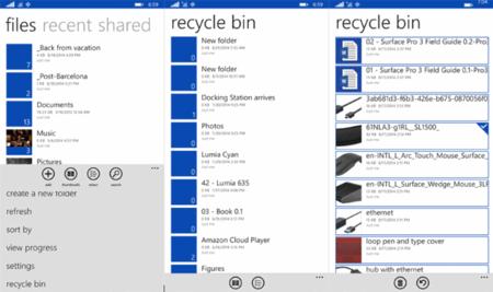 OneDrive para Windows Phone ahora permite acceder a la Papelera de Reciclaje