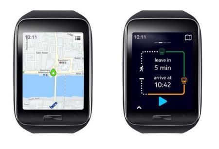 Here da atractivo a llevar los mapas en los relojes Tizen de Samsung