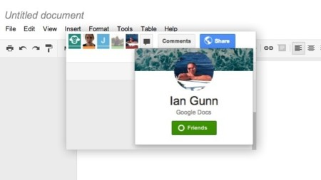 Google Drive se integra los perfiles de Google+ en su interfaz y mejora sus mensajes instantáneos