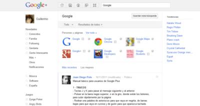 Google+ añade Trending Topics y búsquedas avanzadas