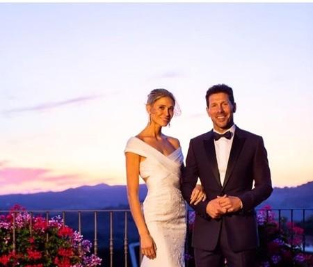 Carla Pereyra y Simeone se han dado el sí quiero (de nuevo) y así es el vestido de la novia